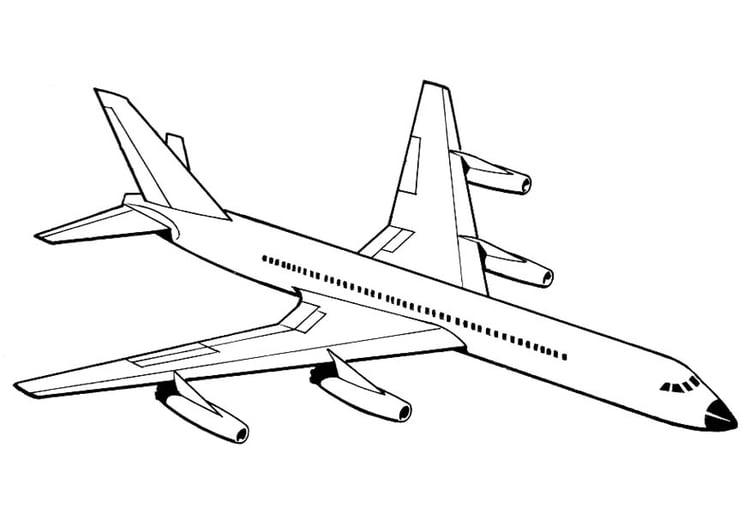 Página Para Colorir Avião