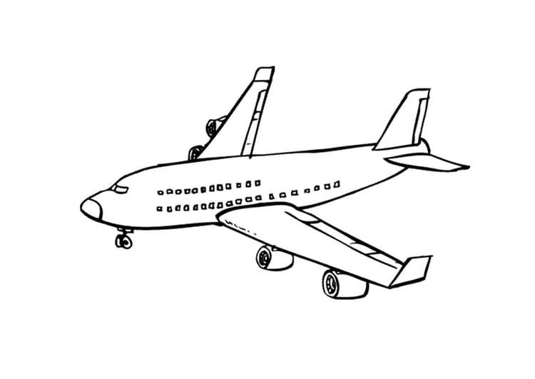 página para colorir avião img 9673