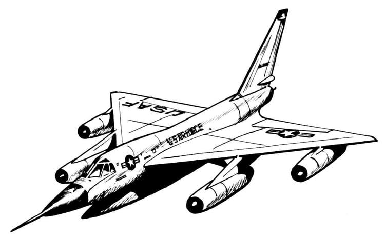 página para colorir avião hustler img 16027