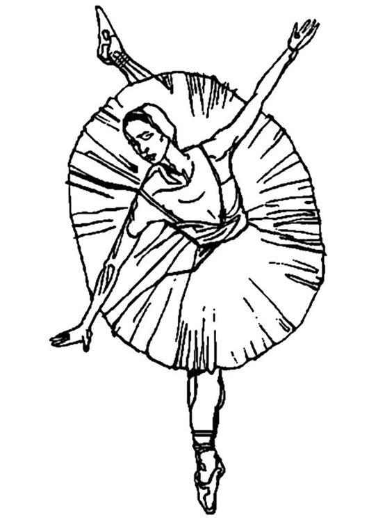 Desenho Para Colorir Bailarina Balé Imagens Grátis Para