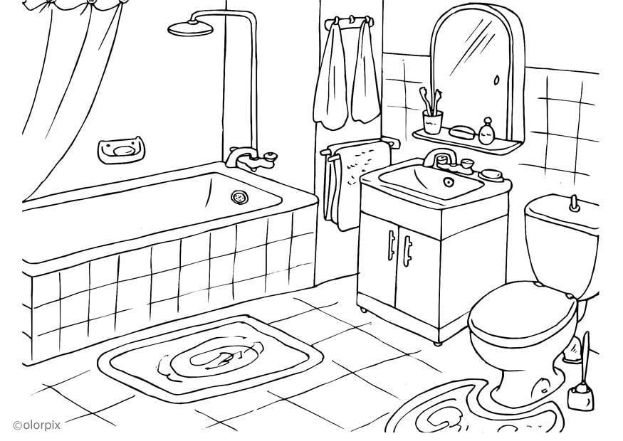 Imagens De Banheiro Para Colorir : P?gina para colorir banheiro img