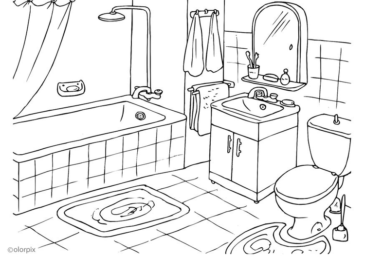 p gina para colorir banheiro img 25994 images. Black Bedroom Furniture Sets. Home Design Ideas