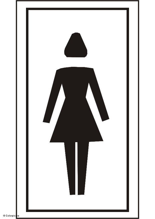 Página para colorir banheiro feminino  img 5429 -> Banheiro Feminino Desenho