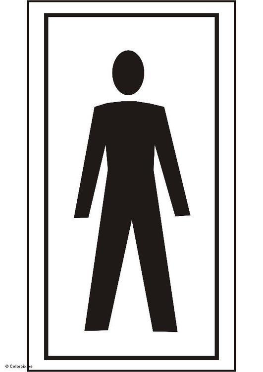 Página para colorir banheiro masculino  img 5428 -> Clipart Banheiro Feminino