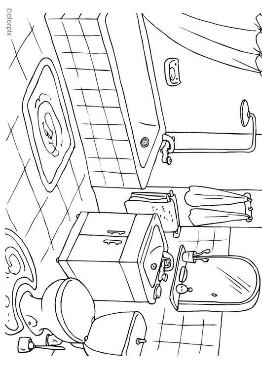 Imagenes De Un Baño Para Colorear:Página para colorir banheiro – img 25994