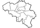 Página para colorir Bélgica - provincias
