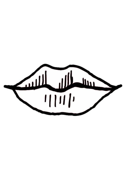 página para colorir boca lábios img 9524