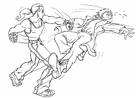 Página para colorir briga - luta