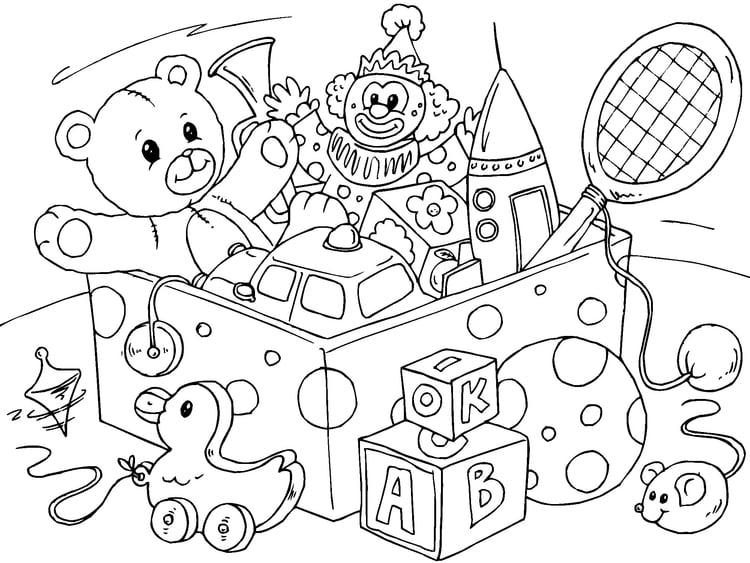 Página Para Colorir Brinquedos