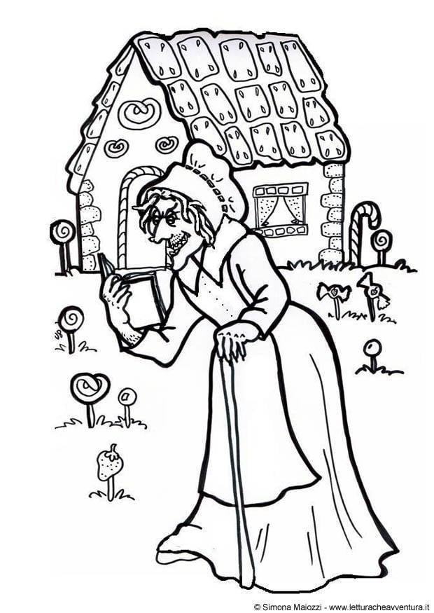 P gina para colorir bruxa jo o e maria img 12411 for Disegni da colorare hansel e gretel