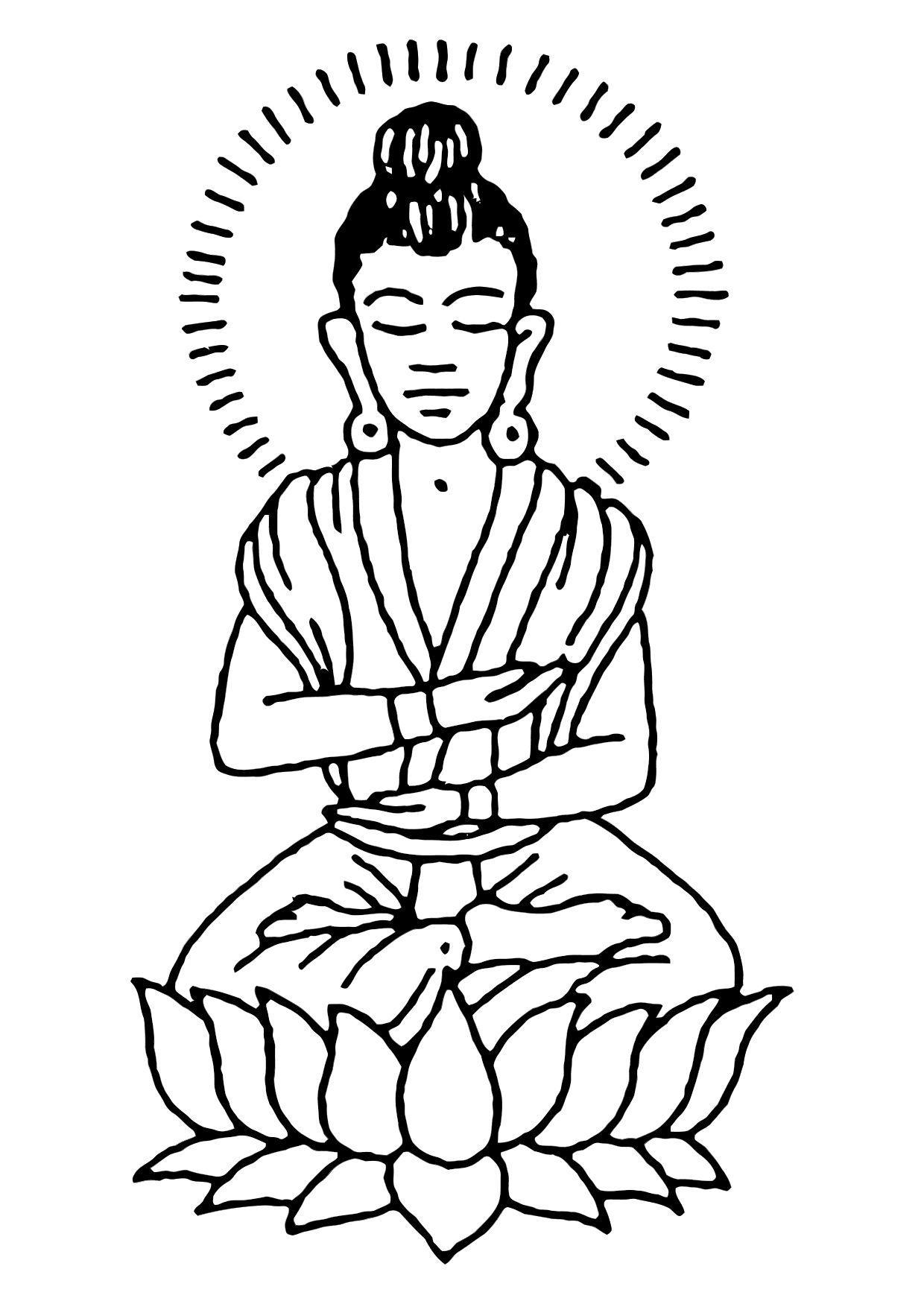 Desenho De Imagem Buda Para Colorir Hawaii