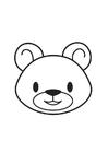 Página para colorir cabeça de urso