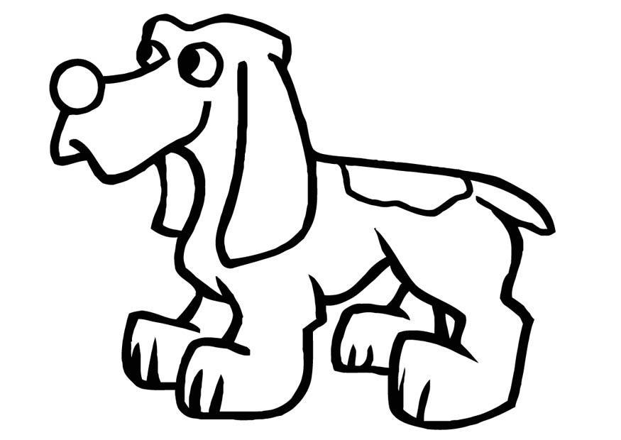 Página Para Colorir Cachorro