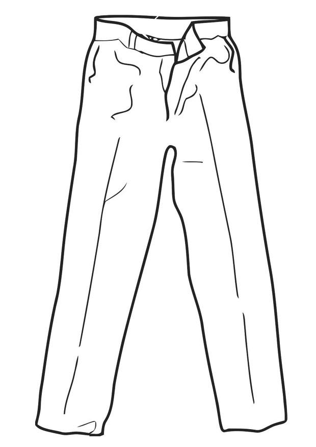 long pants coloring pages - photo#10