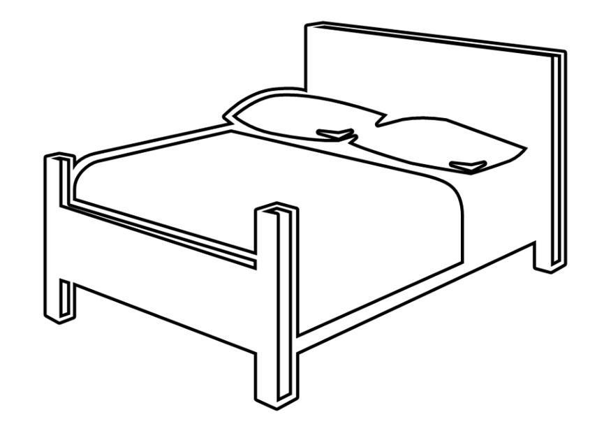 P gina para colorir cama de casal img 25714 for Planimetrie gratuite della casa del campione