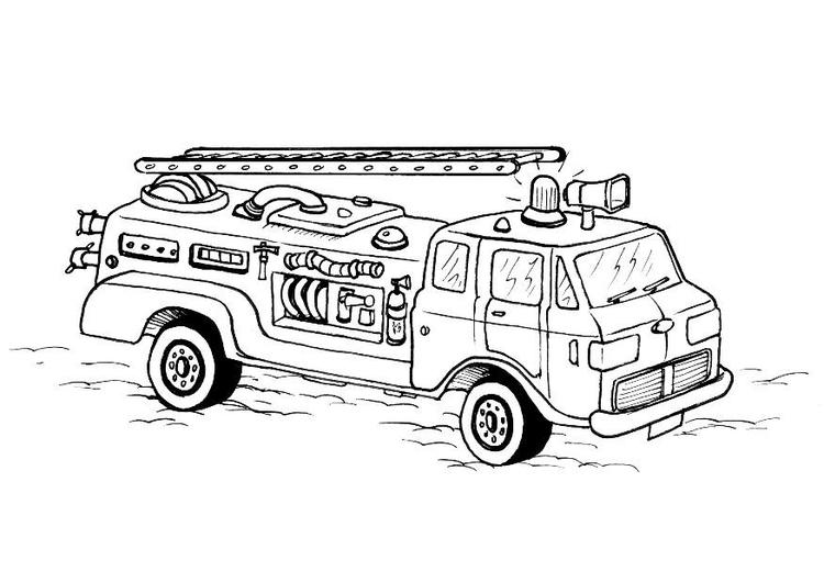 Desenho Para Colorir Caminhao De Bombeiros Imagens Gratis Para