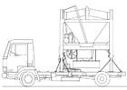 caminhão - misturador de areia
