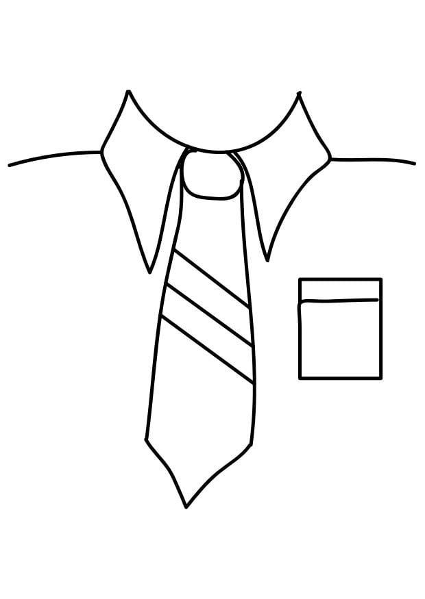 p u00e1gina para colorir camisa com gravata