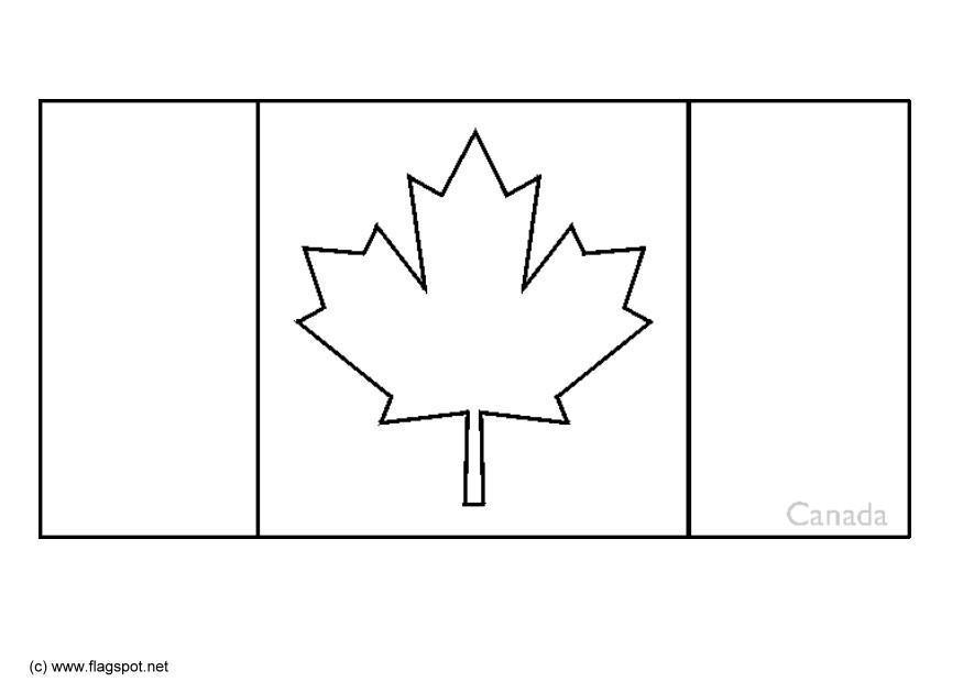 Bandera De Brasil Para Colorear: Página Para Colorir Canadá