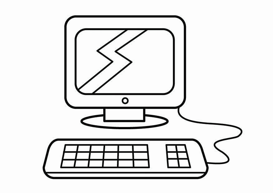Dibujos Animados Para Colorear En El Ordenador: Página Para Colorir Canto Do Computador