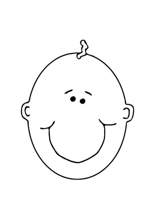 página para colorir carinha de bebê img 11898
