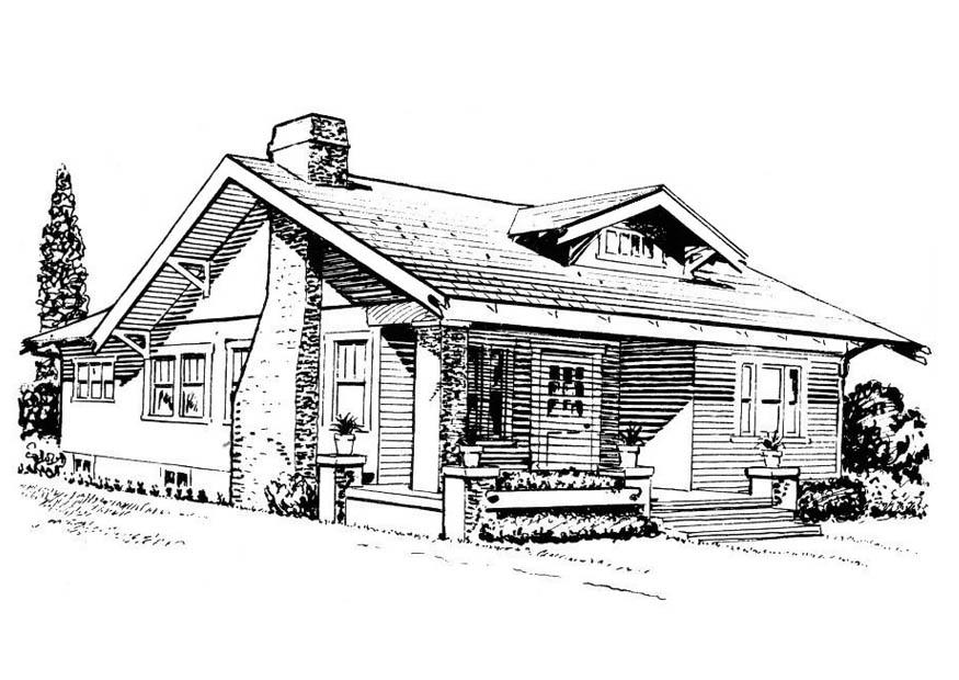 P gina para colorir casa bangal img 18813 - Fotos de bungalows de madera ...