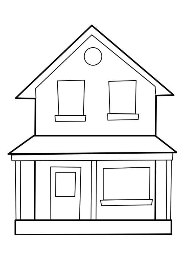 P gina para colorir casa img 22849 for Fotos de casas modernas para imprimir