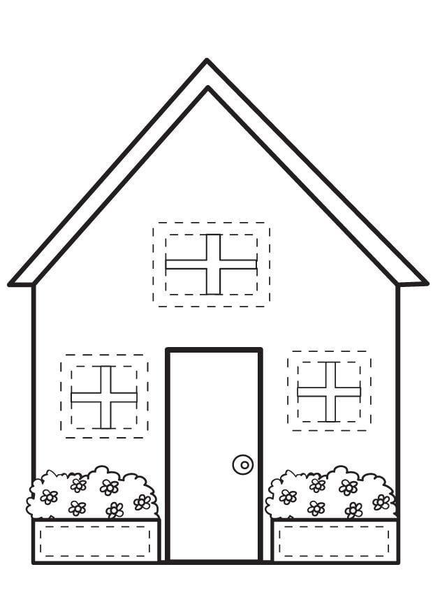 P gina para colorir casa img 7095 - Formas de pintar una casa ...