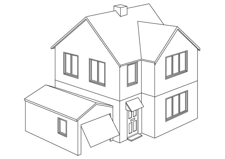 P gina para colorir casa img 9454 for Paginas para disenar casas