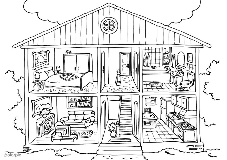 P gina para colorir casa interior img 25995 for Paginas para disenar casas