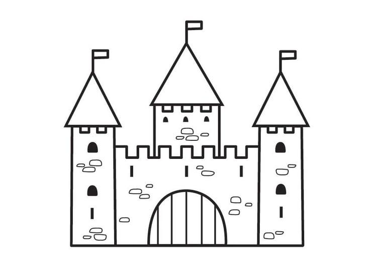 página para colorir castelo 2 img 23125