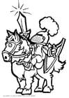 Página para colorir cavaleiro