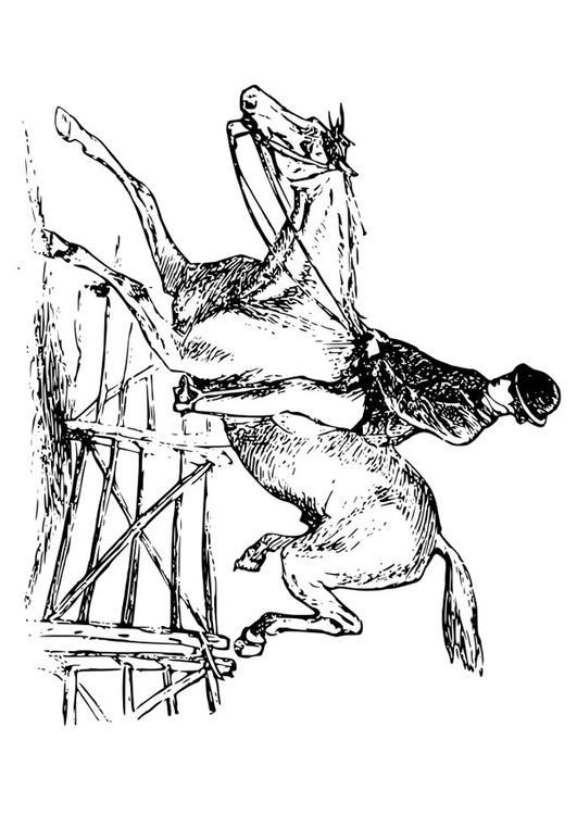 p gina para colorir cavalo e cavaleiro   img 27894