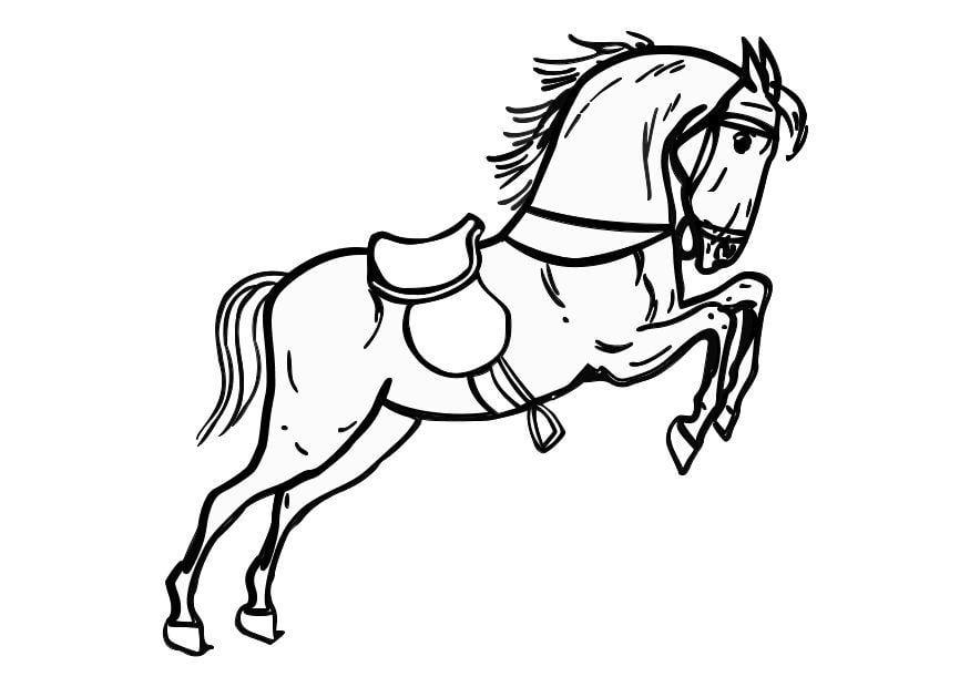 p gina para colorir cavalo empinando   img 10361