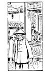 Página para colorir chinês