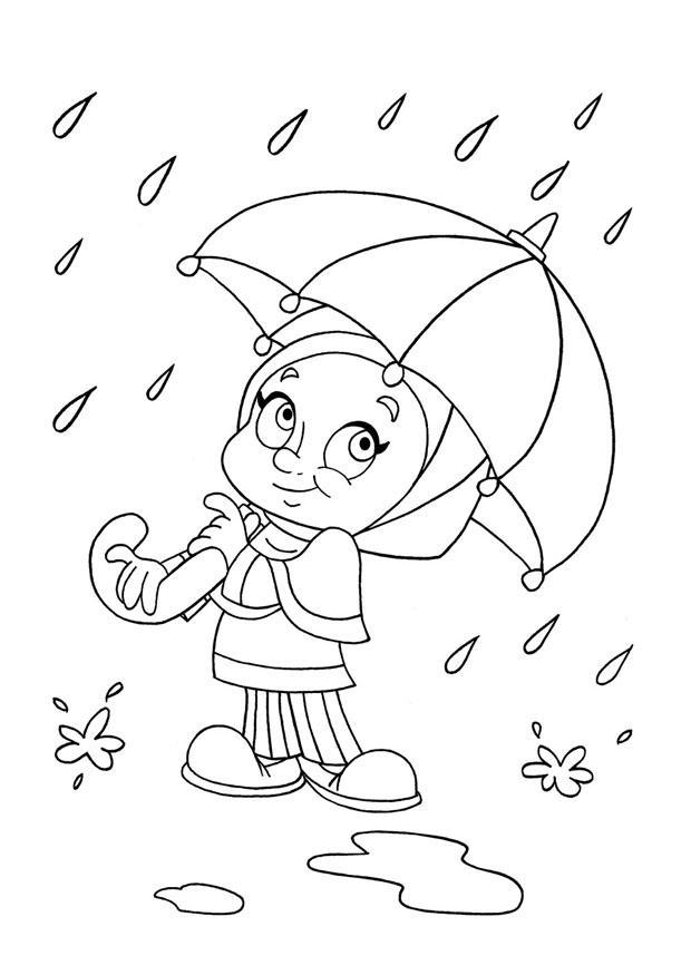 p u00e1gina para colorir chuva
