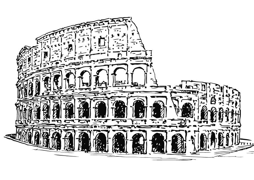 coloring pages of roman buildings - photo#26