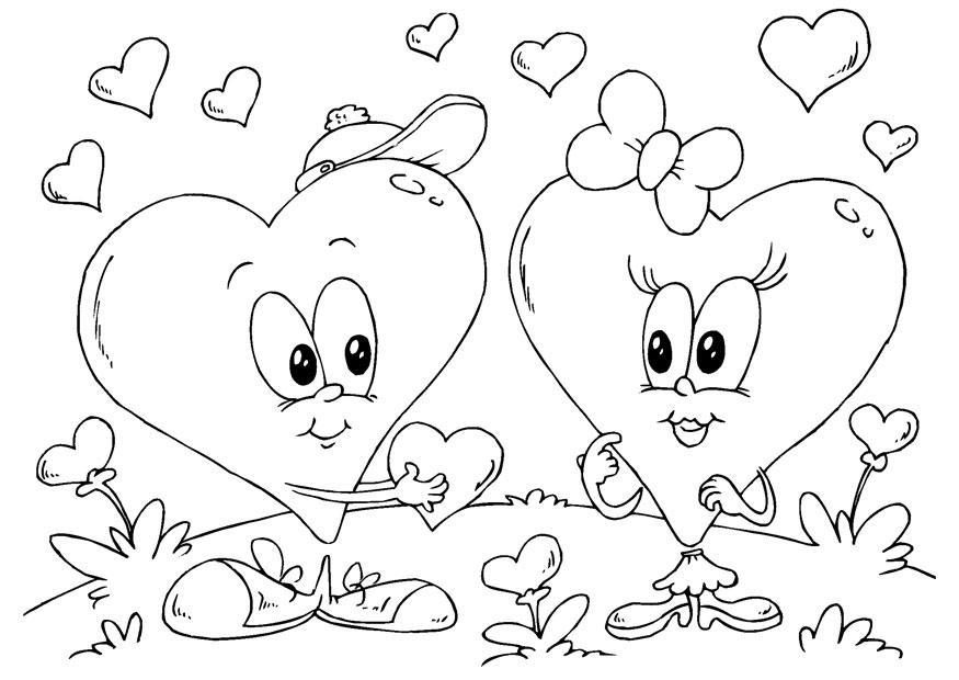 Colorir Imagens Coração Para Colorir: Página Para Colorir Corações De São Valentino