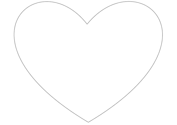 Página Para Colorir Coração Simples