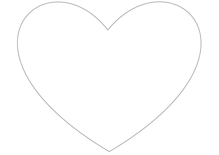 Página para colorir coração simples - img 10035.