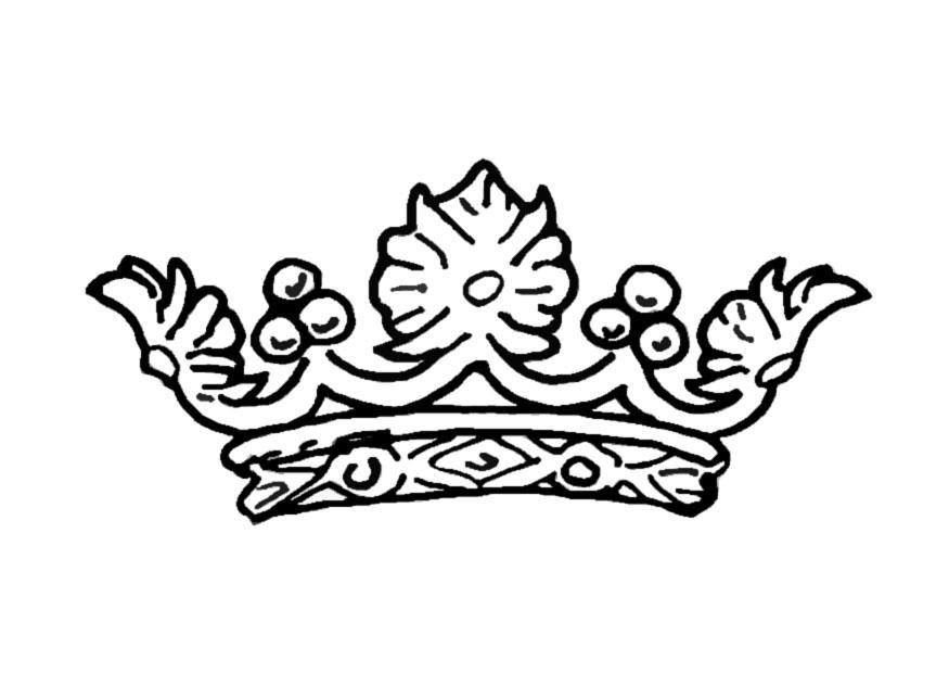 Página Para Colorir Coroa Da Rainha