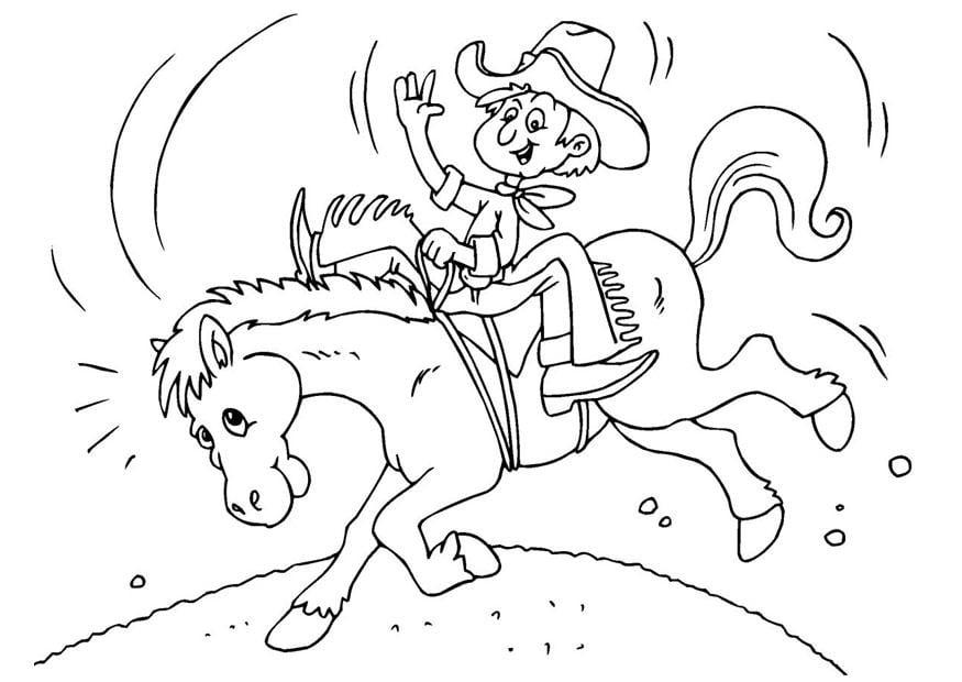 Kleurplaat Paarden Western P 225 Gina Para Colorir Cowboy Img 25972 Images