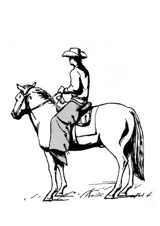 Kleurplaat Paarden Western P 225 Gina Para Colorir Cowboy No Cavalo Img 18944