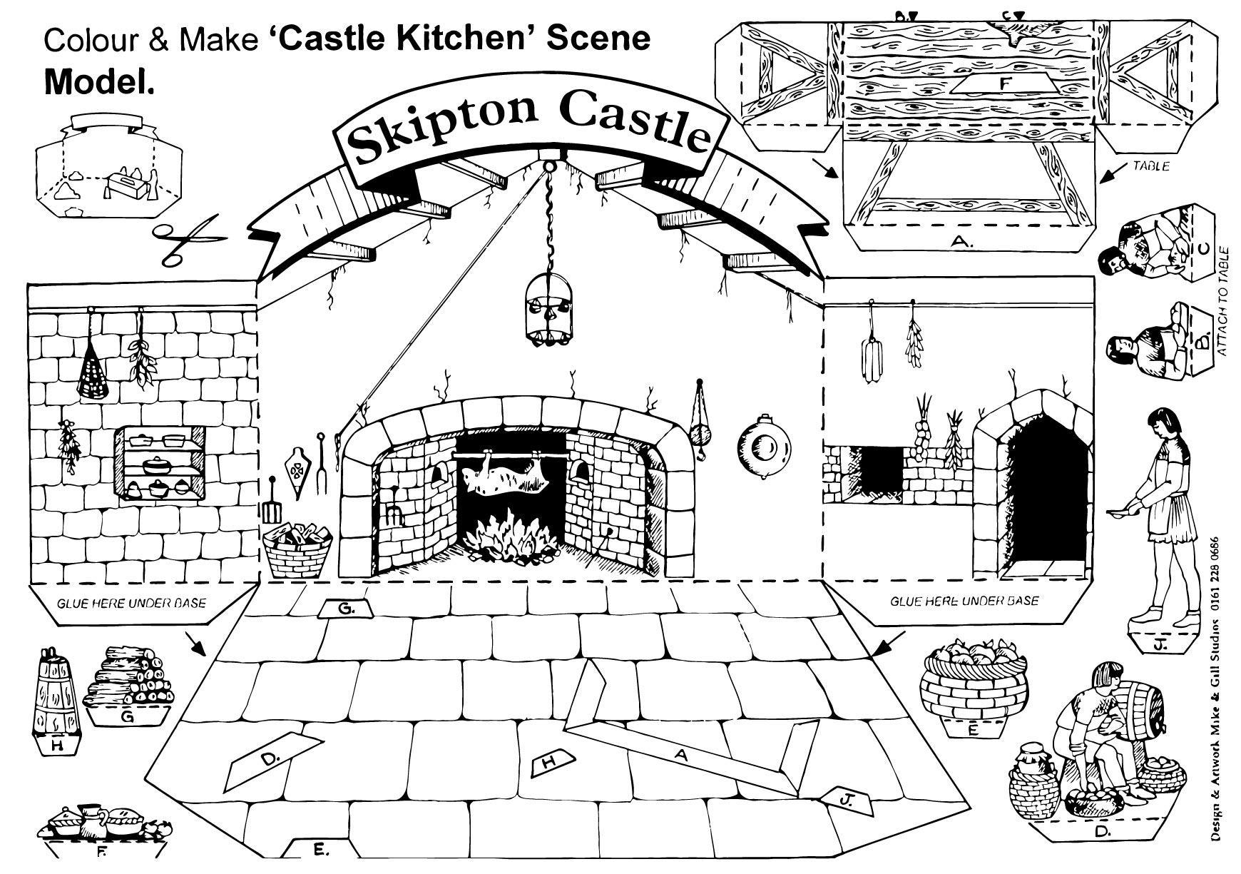 P Gina Para Colorir Cozinha Do Castelo De Skipton Img 14905  ~ Desenhos Para Colorir Cozinha