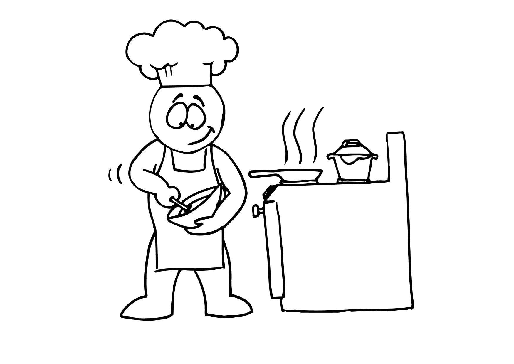 P Gina Para Colorir Cozinhar Img 24716  ~ Desenhos Para Colorir Cozinha