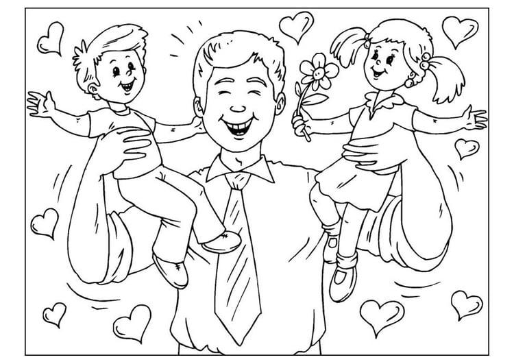 Imagen Para Pintar Dia Del Padre Rinconcito Soleado 100 Dibujos para ...