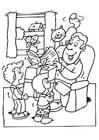 Página para colorir dia dos pais