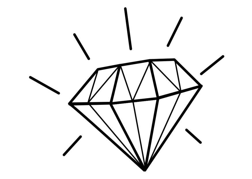 Página Para Colorir Diamante