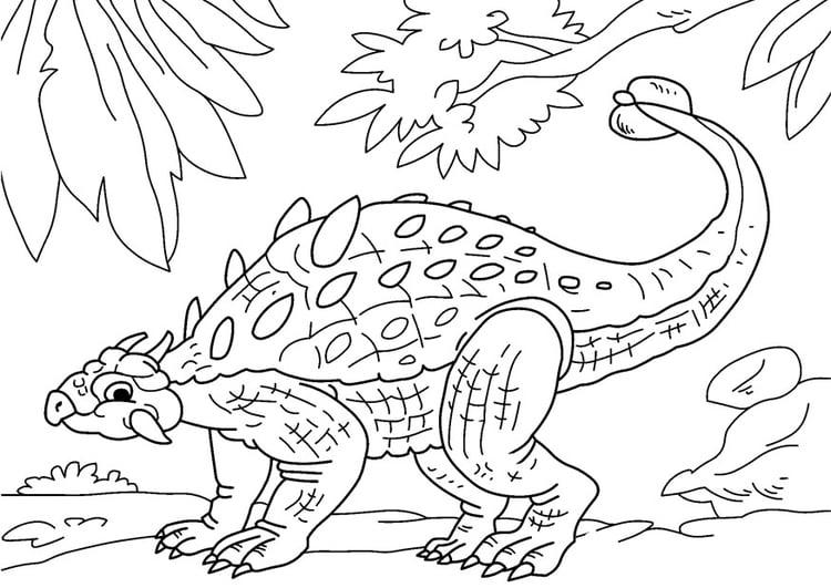 página para colorir dinossauro anquilossauro img 27630