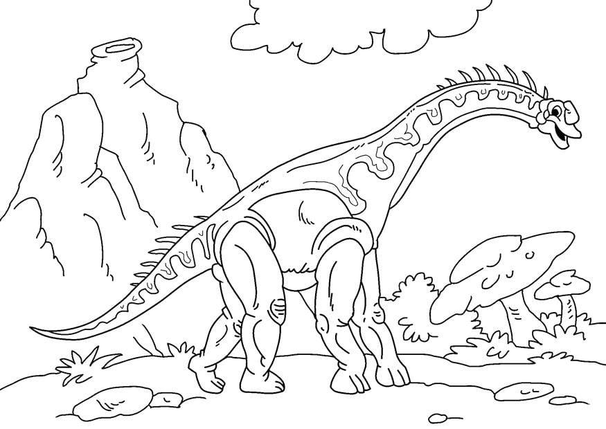 p u00e1gina para colorir dinossauro - diplodoco